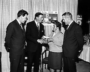 07/01/1969.01/07/1969.07 January 1969. Erin Foods function at Erin Foods Ltd. (l-r) Mr John Geary, Production Manager Erin Soups Ltd., Mr Frank Manning, Sales Manager Erin Foods, Mrs Mary Rice, Crumlin and Mr Brendan Doyle operations manager Erin Foods Ltd.
