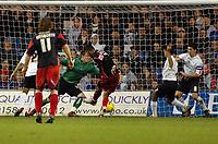 Photo: Kevin Poolman.<br />Luton Town v Queens Park Rangers. Coca Cola Championship. 11/11/2006. QPR's Dexter Blackstock hits home their third goal.