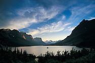 Montana, Saint Mary Lake in Waterton Glacier Internatinal  Peace Park established as a National Park in 1906 These United States Book Pags 40-41