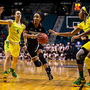 Mar 10 2019  Las Vegas, NV, U.S.A.  Stanford guard Kiana Williams (23) drives to the basket during the NCAA Pac 12 Women's Basketball tournament championship between the Oregon Ducks and the Stanford Cardinals 64-57 win at MGM Grand Garden Arena Las Vegas, NV.  Thurman James / CSM