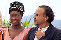 Maimouna N'Diaye and   director and President of the Jury of the Cannes Film Festival Alejandro Gonzalez Inarritu at the  Jury photo call at the 72nd Cannes Film Festival, Tuesday 14th May 2019, Cannes, France. Photo credit: Doreen Kennedy