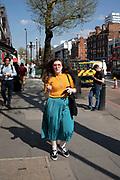 Alternatively fashionable woman in Marylebone, London, England, United Kingdom.