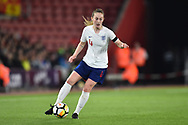 Keira Walsh (4) of England during the FIFA Women's World Cup UEFA Qualifier match between England Ladies and Wales Women at the St Mary's Stadium, Southampton, England on 6 April 2018. Picture by Graham Hunt.