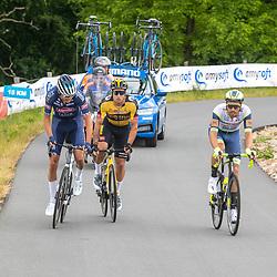WIJSTER (NED) June 20: <br /> CYCLING <br /> Dutch Nationals Road Men up and around the Col du VAM<br /> Boy VAN POPPEL (Netherlands / Team Intermarche - Wanty Gobert), Oscar Riesebeek (Netherlands / Team Alpecin - Fenix)<br /> Dylan Groenewegen (Netherlands / Team Jumbo - Visma)