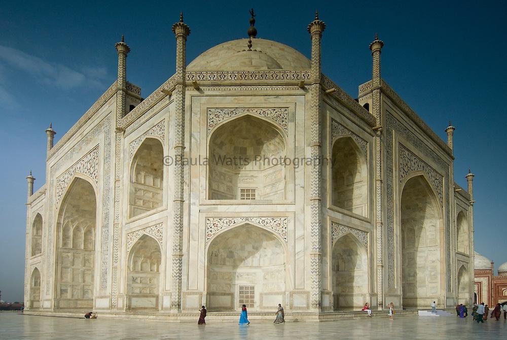 Taj Mahal Mosque side view in Agra, India