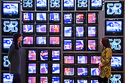 Nam June  Paik Internet Dream 1994 - Electronic Superhighway (2016-1966) at the Whitechapel Gallery opens on 29 January to show the impact of computers and internet technologies on contemporary art. The exhibition brings together over 100 works including film, photography, interactive works, painting and drawing by over 70 artists. Arranged in reverse chronological order, the exhibition begins with works made at the arrival of the new millennium, and ends with artefacts from Experiments in Art and Technology (E.A.T), an iconic, artistic moment that took place in 1966. Highlights include: Internet Dream (1994) by Nam June Paik, 'the father of video art' - a video-wall of 52 monitors displaying electronically-processed images; New large-scale works by Douglas Coupland, author of 'Generation X: Tales for an Accelerated Culture', on show in the UK for the first time; Photographs from Amalia Ulman's Instagram based selfie project Excellences & Perfections; and a wall covered in an image by artist Constant Dullaart of Jennifer in Paradise, the first picture ever to be manipulated using Photoshop (Taken by one of the creators of Photoshop on holiday in the 80s, it depicts his girlfriend on a tropical beach).