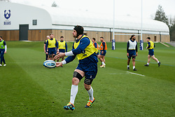 Dave Attwood of Bristol Bears in action during a training session - Rogan/JMP - 04/03/2021 - RUGBY UNION - Bristol Bears High Performance Centre - Bristol, England.
