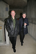 Ben Langlands and Nikki Bell, Antony Gormley - private view,  Hayward Gallery, South Bank, London, 16 May 2007.  -DO NOT ARCHIVE-© Copyright Photograph by Dafydd Jones. 248 Clapham Rd. London SW9 0PZ. Tel 0207 820 0771. www.dafjones.com.