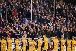 Bristol Rugby players take part in a minutes applause in memory of Munster head coach Anthony Foley who passed away in Paris at the weekend - Rogan Thomson/JMP - 20/10/2016 - RUGBY UNION - The Recreation Ground - Bath, England - Bath Rugby v Bristol Rugby - EPCR Challenge Cup.
