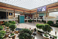 Interior of atrium at new Yas Mall on Yas Island in Abu Dhabi United Arab Emirates