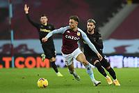 Football - 2020 / 2021 Premier League - Aston Villa vs West Ham United - Villa Park<br /> <br /> Aston Villa's Matthew Cash holds off the challenge from West Ham United's Said Benrahma.<br /> <br /> COLORSPORT/ASHLEY WESTERN