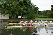 Henley. Great Britain.   Molesey Eights 40+ and 50+ 175th  Henley Royal Regatta, Henley Reach. England. 08:22:04  Sunday  06/07/2014. [Mandatory Credit; Intersport-images] <br /> <br /> Crews 40's Bow, Dan RITCHIE, James WRIGHT, Jonny SEARLE, Guy POOLEY, Alex Partridge, Mike BLOMQUIST, Simon FIELDHOUSE, Dave GILLARD, Neil CHUGANI,<br /> <br /> 50's Richard STANHOPE, Martin CROSS, Malcolm MCGOWAN, Joe MICHELS, Jean CHRISTOPHE-ROLLAND, Matt PINSENT, Ian MCNUFF, Diederik SIMON cox Gary HERBERT