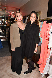 Left to right, Kristine Kuhnke and Amanda Belcourt at the Seren London Launch Party held at Baar And Bass, 336 Kings Road, London England. 26 April 2017.