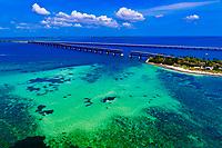 Aerial View, Bahia Honda State Park, Big Pine Key, Florida Keys, Florida USA