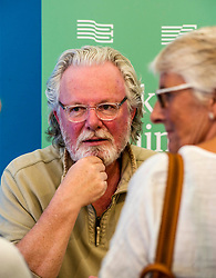Pictured: Peter May (Author of Cast Iron)<br /> Book fanatics headed to Charlotte Square in Edinburgh which is the hub of the international Book Festival to meet the authors and also to meet up with fellow fans of the printed word.<br /> <br /> <br /> Ger Harley | EEm 15 August 2017