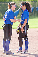 Middletown, New York - Middletown plays Kingston High School in a varsity girls' softball game on May 19, 2014.