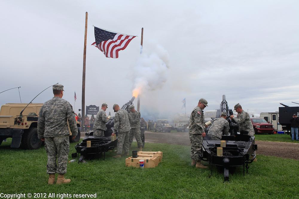 National guard firing 155mm howitzerKokomo Indiana Vietnam Veterans Reunion 2012