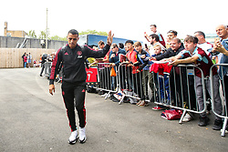 Alexis Sanchez of Manchester United waves to fans as he arrives a Turf Moor - Mandatory by-line: Robbie Stephenson/JMP - 02/09/2018 - FOOTBALL - Turf Moor - Burnley, England - Burnley v Manchester United - Premier League