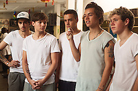 One Direction visit the emergency department at Princess Mary Louise Hospital, Accra, Ghana.