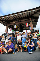 The audience takes in martial arts demonstrations at the 2012 Obon Festival at the Buddhist Temple of Salinas.