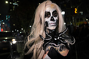 New York, NY - 31 October 2019. the annual Greenwich Village Halloween Parade along Manhattan's 6th Avenue.