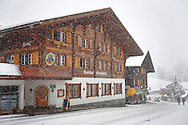 Grindelwald town with Hotel Steinbock  in the winter snow. Ski resort - Swiss Alps .<br /> <br /> Visit our SWITZERLAND  & ALPS PHOTO COLLECTIONS for more  photos  to browse of  download or buy as prints https://funkystock.photoshelter.com/gallery-collection/Pictures-Images-of-Switzerland-Photos-of-Swiss-Alps-Landmark-Sites/C0000DPgRJMSrQ3U