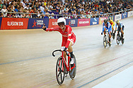 Women Madison, Amalie Dideriksen (Denmark)during the Track Cycling European Championships Glasgow 2018, at Sir Chris Hoy Velodrome, in Glasgow, Great Britain, Day 6, on August 7, 2018 - Photo luca Bettini / BettiniPhoto / ProSportsImages / DPPI<br /> - Restriction / Netherlands out, Belgium out, Spain out, Italy out -