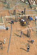 large building site under construction preparing for pouring concrete