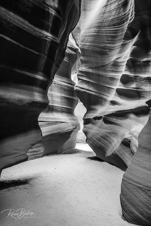 Slickrock formations in upper Antelope Canyon, Navajo Indian Reservation, Arizona USA