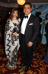 MR & MRS MIKE JATANIA he is the cosmetic multi millionaire at the 10th Anniversary Asian Business Awards 2006 at the London Grosvenor Hotel Park Lane, London on 19th April 2006.<br />
