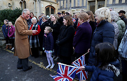 The Prince of Wales meets members of the public during a visit to the Sue Ryder Leckhampton Court Hospice near to Cheltenham in Gloucestershire, which he visits regularly and is celebrating 30 years of royal patronage.