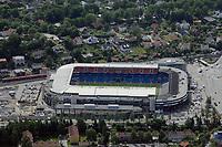 Ullevaal stadion fotografert fra luften i juni 2008. Ullevaal stadium National arena of Norway <br /> <br /> 9. juni 2008. Foto: Peter Tubaas/Digitalsport<br /> <br /> Arena Stadion Stadium Flyfoto Aerial photo Norway