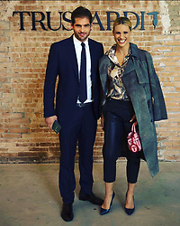 """Michelle Hunziker releases a photo on Instagram with the following caption: """"My husband and I always share great moments together like today at the Trussardishow! Magistralmente diretto da @trussardigaia !!! \ud83d\udd1d@therealtrussardigram hair @stefanomartorini make-up @laurabarenghi"""". Photo Credit: Instagram *** No USA Distribution *** For Editorial Use Only *** Not to be Published in Books or Photo Books ***  Please note: Fees charged by the agency are for the agency's services only, and do not, nor are they intended to, convey to the user any ownership of Copyright or License in the material. The agency does not claim any ownership including but not limited to Copyright or License in the attached material. By publishing this material you expressly agree to indemnify and to hold the agency and its directors, shareholders and employees harmless from any loss, claims, damages, demands, expenses (including legal fees), or any causes of action or allegation against the agency arising out of or connected in any way with publication of the material."""