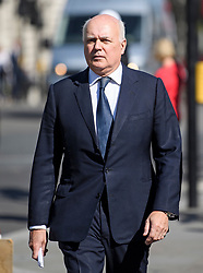 © Licensed to London News Pictures. 02/09/2019. London, UK. Conservative MP IAIN DUNCAN SMITH is seen in Westminster, London. British Prime Minister Boris Johnson will prorogue Parliament in the run up to Britain's planned Brexit deadline in an attempt to keep the option of a 'no deal' Brexit. Photo credit: Ben Cawthra/LNP