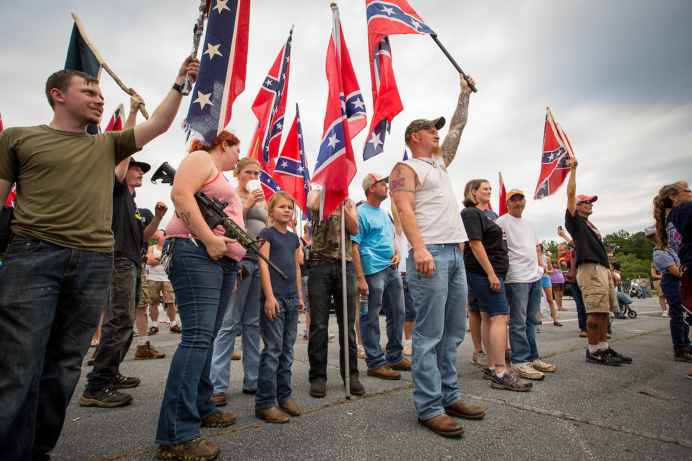 People participating in Confederate flag rally at Stone Mountain Park in Stone Mountain, Georgia on Saturday, Aug. 1, 2015. Photo by Kevin D. Liles/kevindliles.com