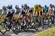 Christopher Froome (GBR - Team Sky), Geraint Thomas (GBR - Team Sky) yellow jersey during the 105th Tour de France 2018, Stage 15, Millau - Carcassonne (181,5 km) on July 22th, 2018 - Photo Kei Tsuji / BettiniPhoto / ProSportsImages / DPPI