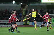 Burton Albion defender Ryan Edwards (4) heads clear during the EFL Cup match between Burton Albion and Bournemouth at the Pirelli Stadium, Burton upon Trent, England on 25 September 2019.