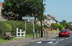 © London News pictures...  01/07/2015. Harmondsworth, UK. The entrance to the village of Harmondsworth in West London, which is due to be demolished to make way for a third runway at Heathrow Airport if plans go ahead. The airports commission today (Weds) gave it's backing for the £18.6bn plan for a third runway at Heathrow. Photo credit: Ben Cawthra/LNP