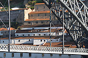Dom Luis I bridge seen from Cais da Ribeira porto portugal