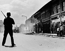 July 9, 1992 - Michigan, U.S. - Detroit Riot of 1967, a scene on 12th Street. (Credit Image: © Detroit Free Press via ZUMA Wire)