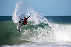 Australian Mikey Wright advanced to Round Three at the Corona Open J-Bay with a win over Jesse Mendes from Brazil.