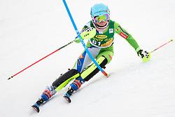 January 7, 2018 - Kranjska Gora, Gorenjska, Slovenia - Meta Hrovat of Slovenia competes on course during the Slalom race at the 54th Golden Fox FIS World Cup in Kranjska Gora, Slovenia on January 7, 2018. (Credit Image: © Rok Rakun/Pacific Press via ZUMA Wire)