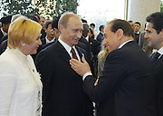 Moscow, Russia, 09/05/2005..Formal reception in the Kremlin hosted by Russian President Vladimir Putin and wife Ludmilla on the 60th anniversary of victory in the Great Patriotic War.