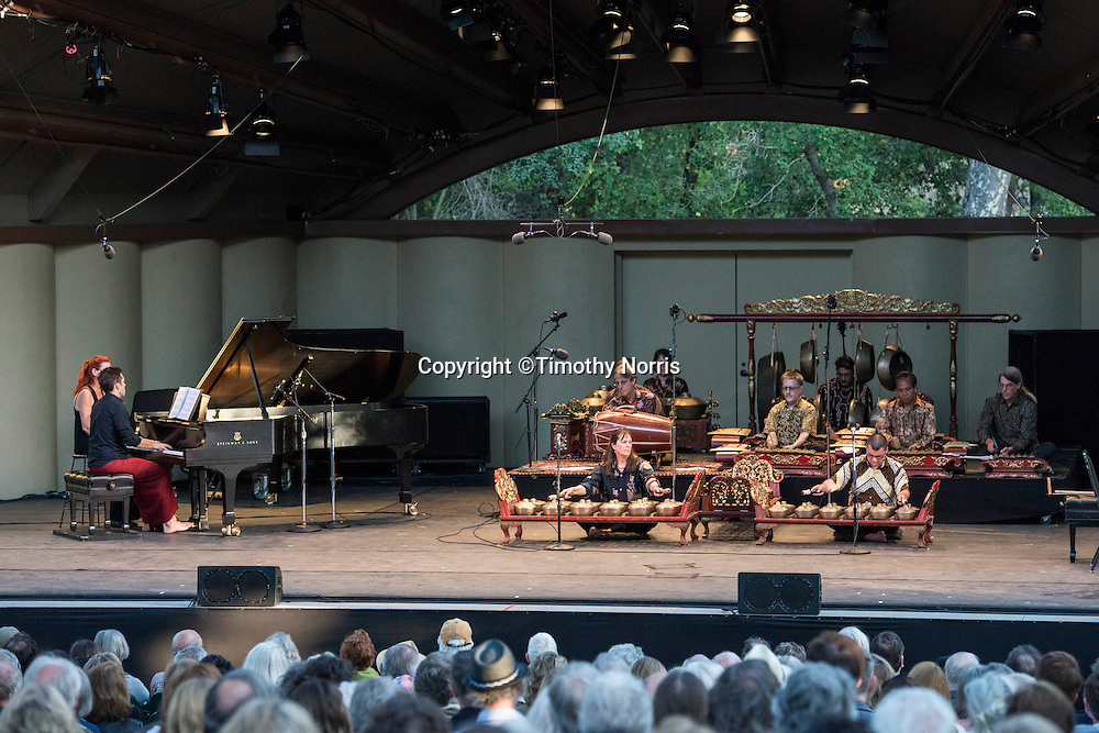 "Colin Fowler and Gamelan Sari Raras perform Lou Harrison's ""Concerto for Piano with Javanese Gamelan"" at Libbey Bowl on June 9, 2013 in Ojai, California."