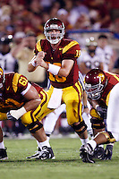 1 September 2007:  QB #10 John David Booty makes hand gestures during the USC Trojans college football team defeated the Idaho Vandals 38-10 at the Los Angeles Memorial Coliseum in CA.  NCAA Pac-10 #1 ranked team first game of the season.