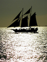 Jolly Rodger sailing at sunset off Key West Florida