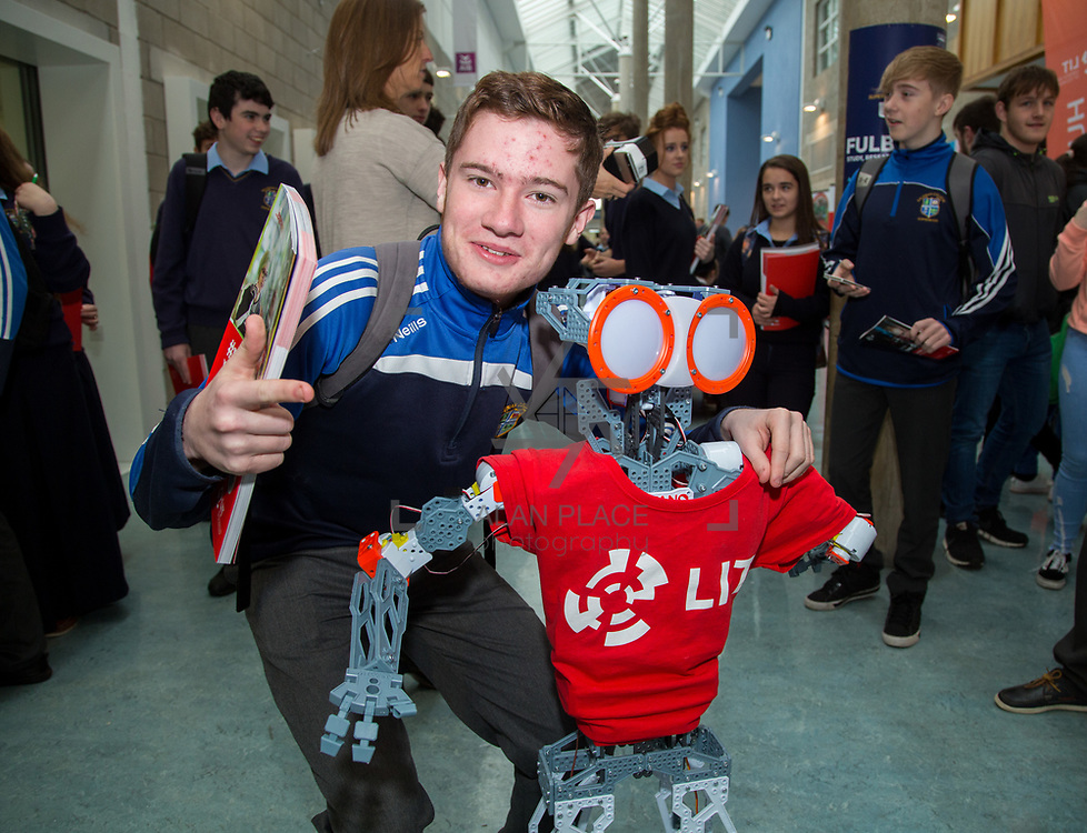 20.10.17.            <br /> Enjoying the LIT (Limerick School of Technology) open day was Dean Delap, Salesians Secondary School. Picture: Alan Place