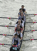 London, Great Britain, Molesey BC with Andrew TRIGGS HODGE, Phil SIMMONS and Simon FIELDHOUSE, 2002 Head of the River Race Championship Course Chiswick [Mortlake] to Putney. River Thames. Saturday, [Mandatory Credit. Peter SPURRIER/Intersport Images. 20020323. Head of the River Race, London. UK.
