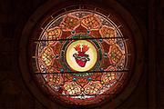 "Window 1 on plan. Approx. 36"" diameter.<br /> <br /> St. Ignatius of Loyola Catholic Church, Northeast Harbor, Maine."