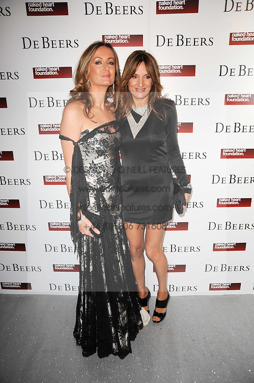 Left to right, LUCY YEOMANS and EMILY OPPENHEIMER at The Love Ball hosted by Natalia Vodianova and Lucy Yeomans to raise funds for The Naked Heart Foundation held at The Round House, Chalk Farm, London on 23rd February 2010.